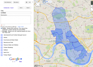 Google maps import step