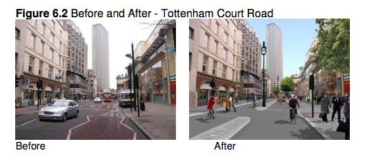 visualisation of Tottenham Court Road in August 2011 Camden LIP