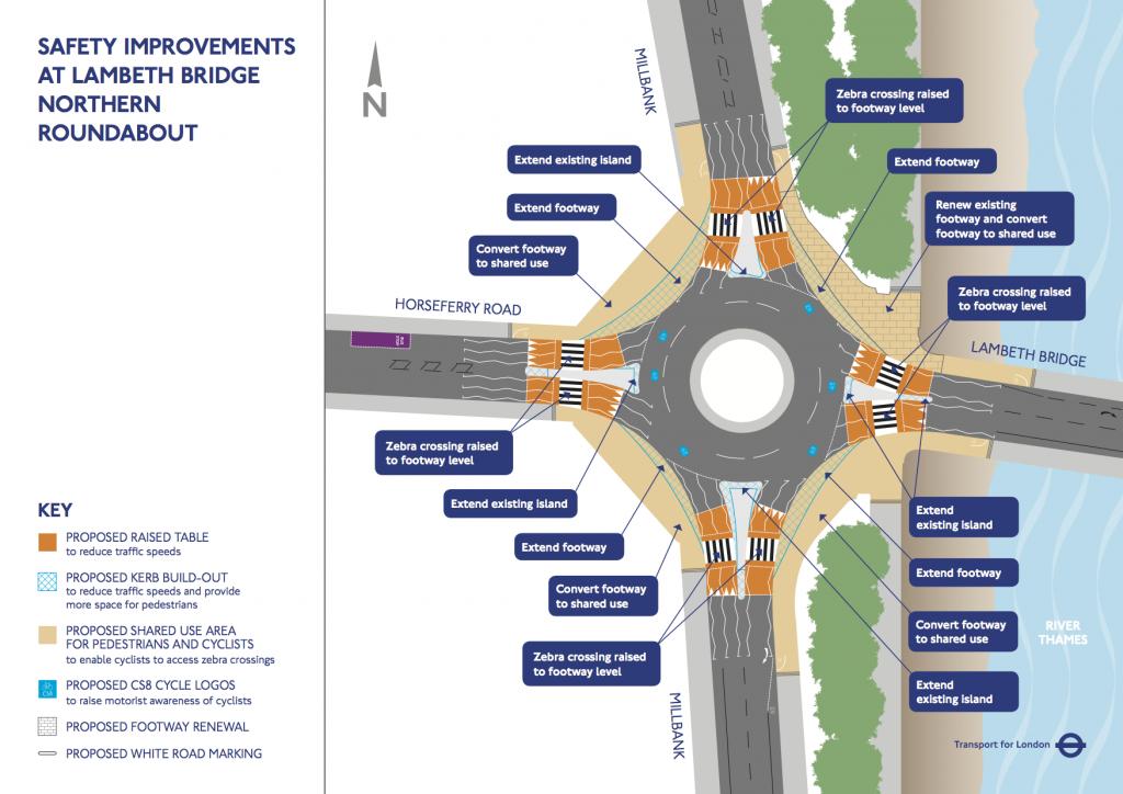 TFL Lambeth North Map