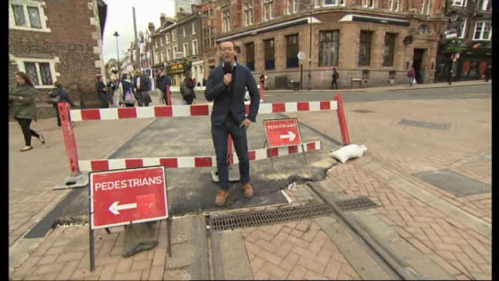 During the recent Tour Series race in Croydon the organisers temporarily laid tarmac over the tram tracks to enable safe crossing of the tram tracks by riders.