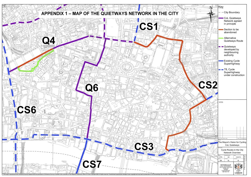 City of London grid - from Gateway 34 Options Appraisal document