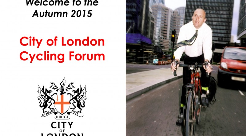 City of London Cycling Forum 2015