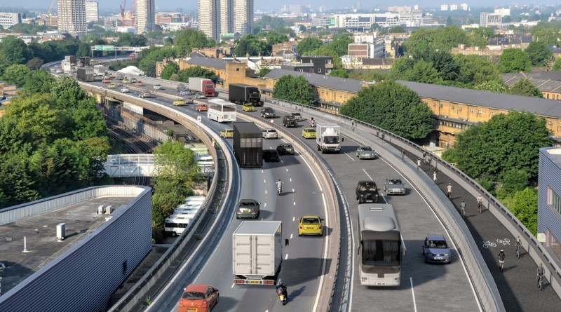 Westway with Barrier