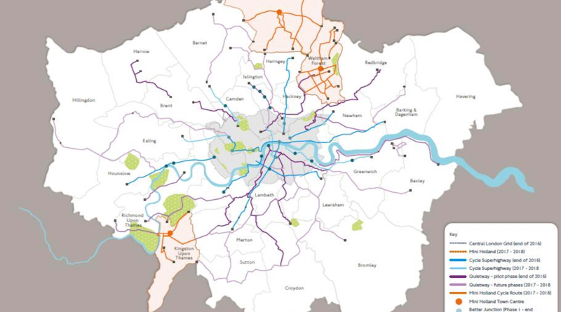 London Cycle Vision routes by 2021