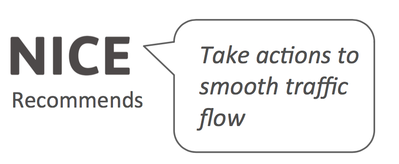 "NICE recommends ""Take actions to smooth traffic flow"""