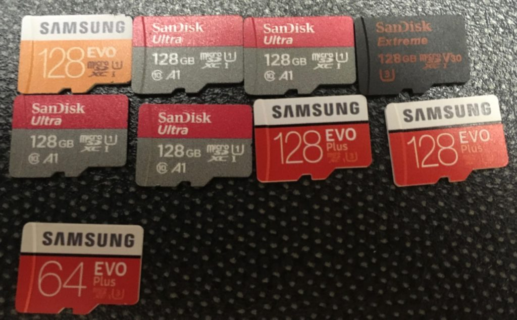a pile of microSD cards
